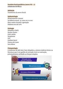 Paralisia facial periférica (Síndrome de BELL)