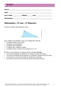 Matemática 8º ano 2º Bim