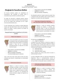 Classificação dos traumatismos dentários