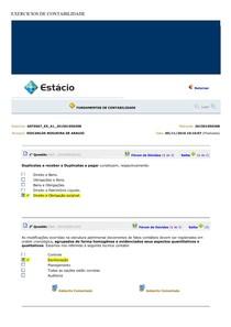 EXERCICIOS DE CONTABILIDADE