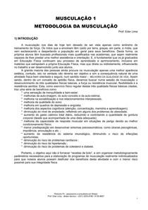 MUSCULAÇÃO 1 - METODOLOGIA DA MUSCULAÇÃO