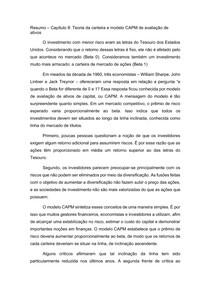 Resumo (parte II) Capítulo 8 - Princípios de Finanças Corporativas - Brealey, Myers e Allen
