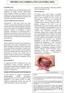 HIPERPLASIA FIBROSA INFLAMATÓRIA