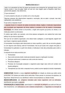Transcrição Aula Imunolgia