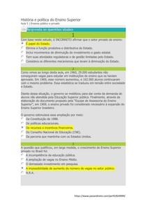 Exercícios Aula 05 - História e Politica do Ensino Superior - By SM