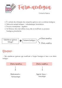 FARMACOLOGIA - conceitos iniciais