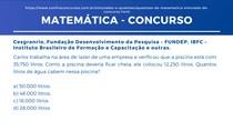 Matemática - Capacidade, soma, interpretação