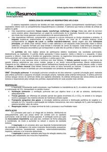 Semiologia - Aparelho respiratório