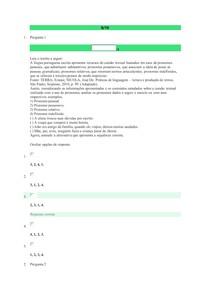 Avaliação On-Line 3 (AOL 3) - Questionário