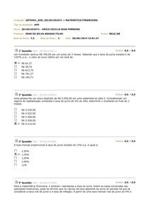 Avs Matemática Financeira
