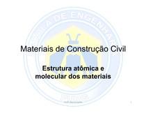 Materiais De Construção Estrutura Atômica E Molecular Mater