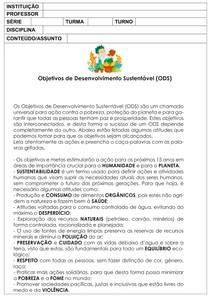 Atividade Caça palavras Tema : Sustentabilidade