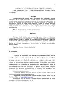 ARTIGO CIVIL EVOLUÇÃO NO CONTRATO DE EMPREITADA NO DIREITO BRASILEIRO