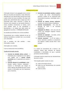 FORMAÇÃO RETICULAR + COMA - RESUMO