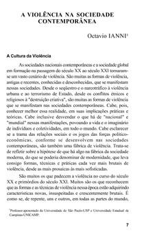 violencia na sociedade contemporânea