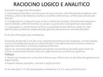 RACIOCINO LOGICO E ANALITICO