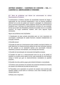 RESUMO Antonio Gramsci   Caderno 22 Americanismo e Fordismo