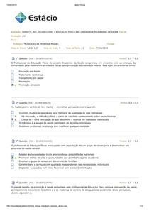 Av1 EDUCAÇÃO FÍSICA NAS UNIDADES E PROGRAMAS DE SAÚDE 2015.1