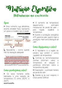 Hidratação no exercício físico