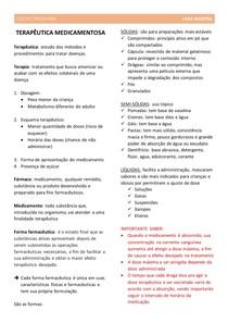 ODONTOPEDIATRIA - terapeutica medicamentosa