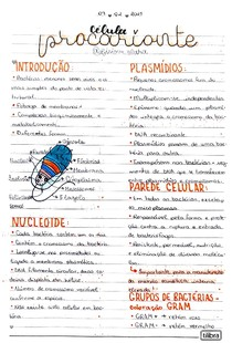 Célula procarionte - Biologia celular e molecular