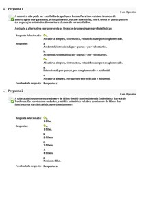 Atividade Tele Aula I - Bioestatistica UNIP
