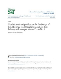 ANSI NORTH AMERICAN SPECIFICATION FOR THE DESIGN OF COLD FOR - 17