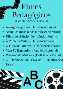 Filmes Pedagógicos para atividades complementares
