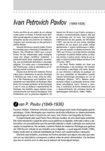 TEXTO 02 - Primórdios do Behaviorismo Pavlov, Watson e Guthrie