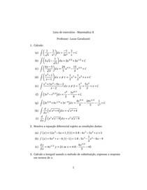 Matemática II exercícios - gabarito com pequenos erros