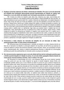 Teoria e Política Macroeconômica I Lista de Exercícios 1 Felipe Moreti Bolini