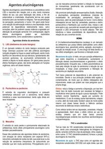 Agentes alucinógenos - Farmacologia