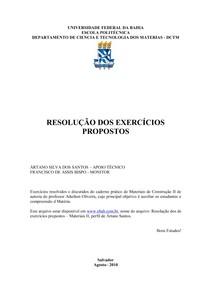 Lista de Exercícios Resolvidos de Maco I