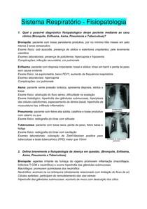 Perguntas de Fisiopatologia Respiratória