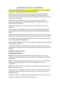 AULA 03 – VISÃO ESTRATÉGICA