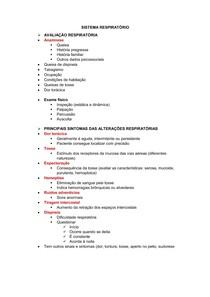 Prova N2 - Práticas de Enfermagem - Sistema Respiratório
