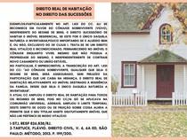 Direito real de habitação no direito das Sucessões