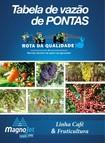 Tabela de vazão de Pontas