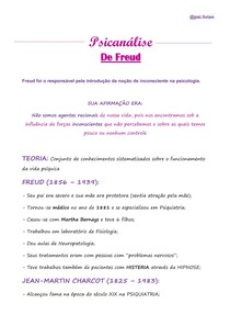 PSICANÁLISE: Sigmund Freud/ Jean-Martin Charcot/ Pierre Janet/ Hipnose