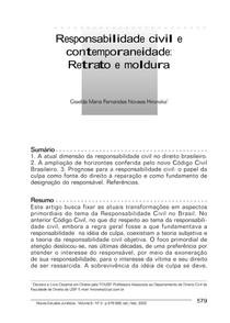ARTIGO GISELDA HIRONAKA   RESPoNSABLIDADE CIVIL CONTEMPORANEA
