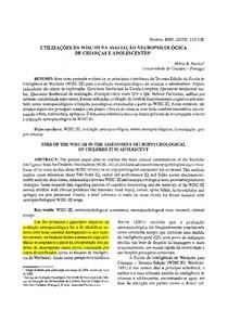 UTILIZAÇÕES DA WISC III NA AVALIAÇÃO NEUROPSICOLÓGICA