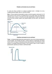 Padrão ou formato da curva de fluxo - urofluxometria