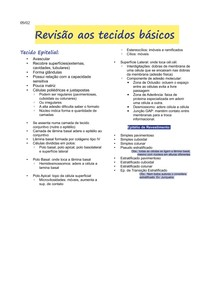 1-Revisão tecidos básicos I