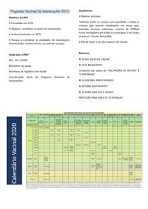 Resumo - Programa Nacional de Imunizações