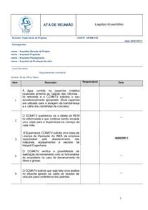 Modelo Ata De Reunião De Equipe Gestora Em 09 082013 Planej