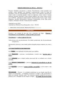 DIREITO PROCESSUAL PENAL – PONTO 5