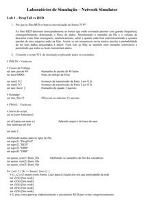 Teleinformática e Redes 2 - Laboratórios de Simulação – Network Simulator