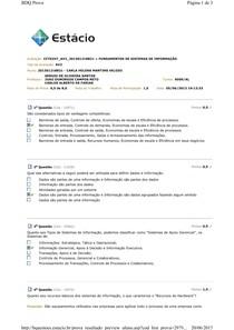 AV2 » FUNDAMENTOS DE SISTEMAS DE INFORMAÇÃO