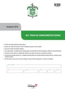 PROVA FAMERP 2019 - Faculdade de Medicina de São José do Rio Preto