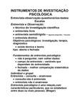INSTRUMENTOS DE INVESTIGAÇÃO I